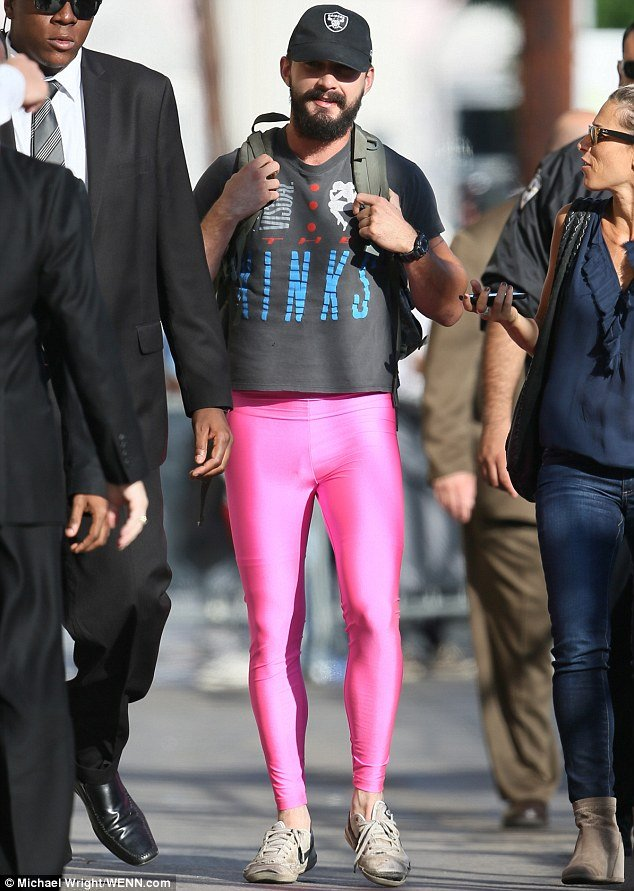 Shia Labeouf in Pink Leggings