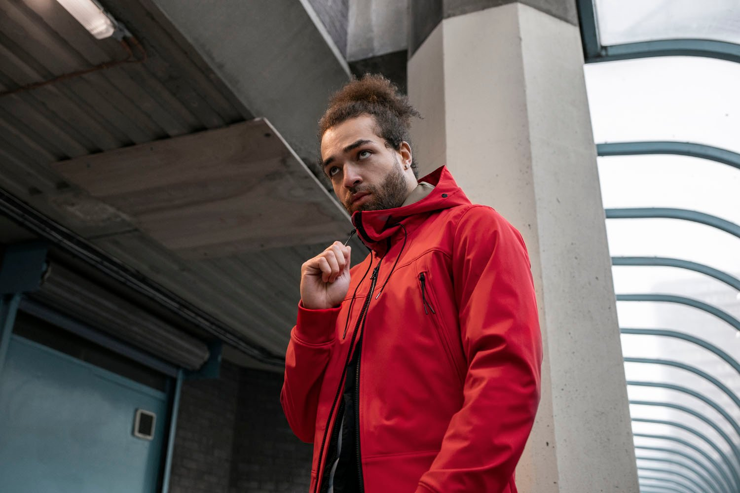 CP Company Soft Shell Jacket Red